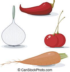 cobrança, de, vegetables., eps10