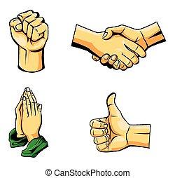 cobrança, mão