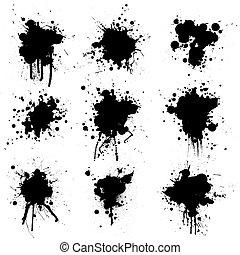 cobrança, tinta, splat