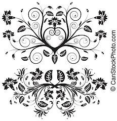cobrar, flor, borda