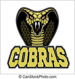 cobras green banner illustration design colorful - Green ...