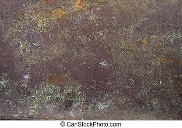 cobre, antigas, folha