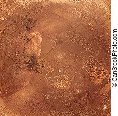 cobre, antigas, fundo, prato