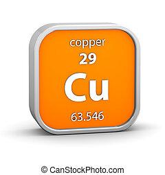 cobre, material, sinal