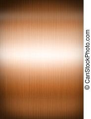 cobre, metal cepillado, textura, plano de fondo