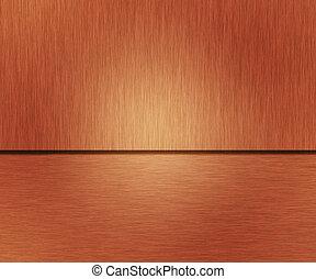 cobre, metal escovado, textura, metálico