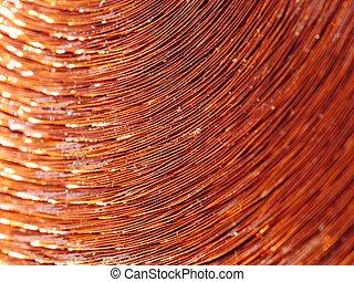 cobre, metal, inductor