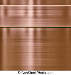 cobre, metal, plano de fondo, textura