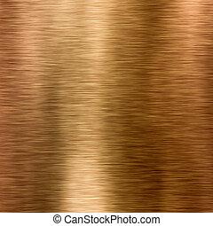 cobre, metal, textura, fundo, ou, bronze