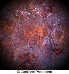 cobre, plano de fondo, grunge