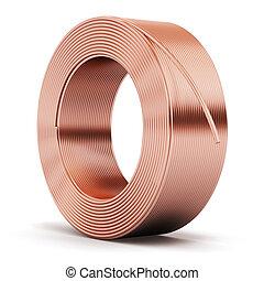 cobre, trozo, cable