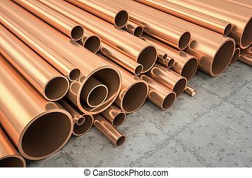 cobre, tubos