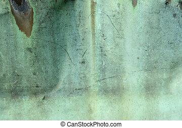 cobre, verde, resistido, plano de fondo