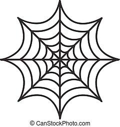 Cobweb icon flat style. Isolated on white background. Vector illustration.