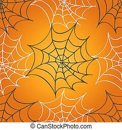 Cobweb seamless pattern. Halloween background.