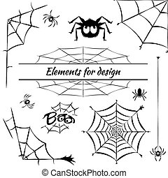 cobweb, set of elements for design