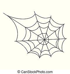 Cobweb spider vector - Halloween cobweb vector frame border...