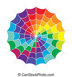 cobweb colorful vector Vector illustration of cobweb isolate on white