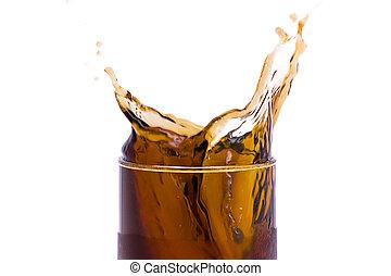 Coca-cola splash