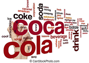Coca Cola word cloud - Coca Cola concept word cloud...