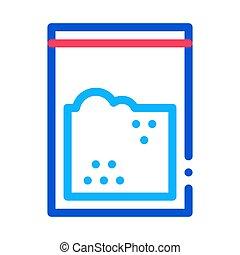 Cocaine Drug Bag Icon Vector Outline Illustration - Cocaine...