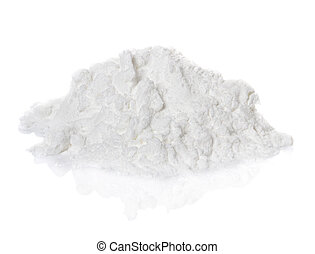 Cocaine drugs heap isolated on white background