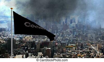 Cocaine flag over the big city