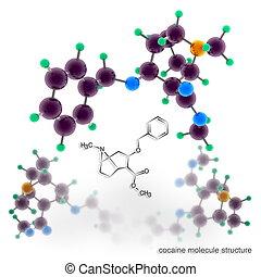Cocaine molecule structure