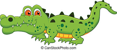 coccodrillo, cartone animato