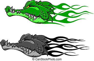coccodrillo, pericolo, tatuaggio