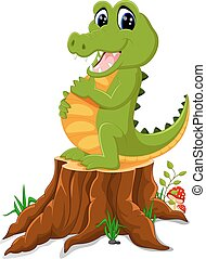 coccodrillo, proposta, cartone animato