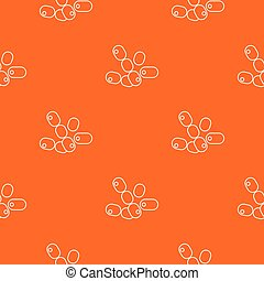 Coccus bacilli pattern vector orange for any web design best
