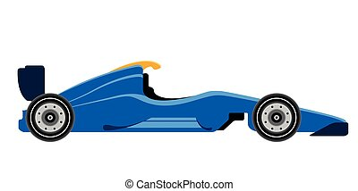 coche, 1, fórmula, carreras, vista lateral