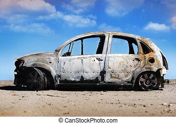 coche, abandonado