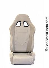 coche, aislado, asiento