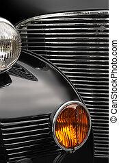 coche antiguo, parrilla