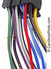 coche, audio, cableado, sistema, cable