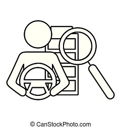 coche, aumentar, conductor, autónomo, entrepuente, vidrio