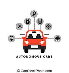 coche, autónomo, diseño