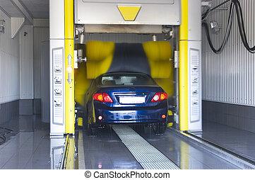 coche, automático, lavado