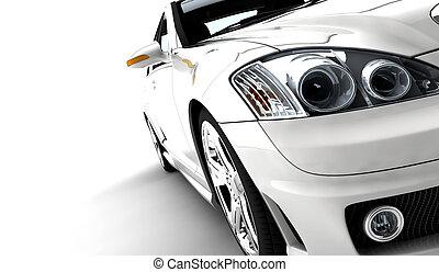 coche, blanco