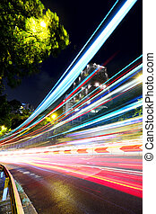 coche, calle, mudanza, rápido, luz