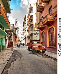 coche, calle, viejo, norteamericano, cuba-may, la habana, ...