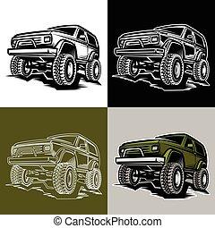 coche, camión, trofeo, suv, 4x4, off-road
