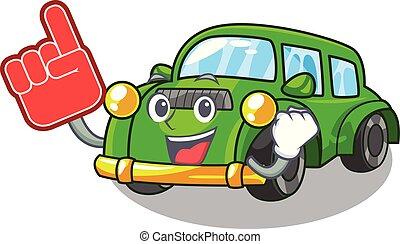 coche clásico, espuma, forma, dedo, juguetes, caricatura