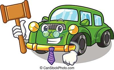 coche clásico, forma, juguetes, juez, caricatura