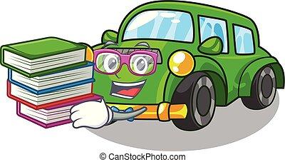 coche clásico, forma, libro, estudiante, juguetes, ...