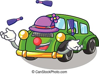 coche clásico, forma, malabarismo, juguetes, caricatura