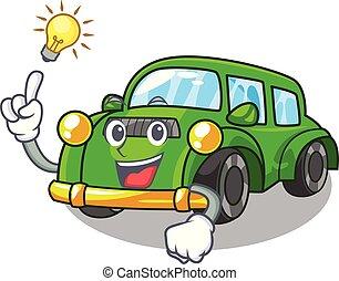 coche clásico, idea, forma, tener, juguetes, caricatura