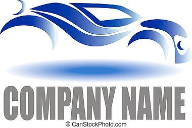 coche, compañía, logotipo
